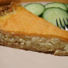 Sweet Vidalia Onion Pie - This eggy, cheesy pie is a great seasonal side dish in place of potatoes, rice, pasta, etcetera.