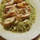Grilled Chicken and Angel Hair Pasta - For a fast but fabulous meal, toss chunks of grilled chicken into hot olive oil, fragrant with sauteed garlic. Then add delicate strands of angel hair pasta, a big dose of your favorite pesto and top with slivers of toasted almonds.