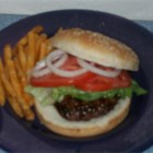 Garlic and Onion Burgers - A few hours before grilling, ground beef is mixed with Worcestershire, garlic, onion and Italian seasoning, and then the mixture is chilled until ready to form into patties for the grill. Makes six, moist and flavorful burgers.