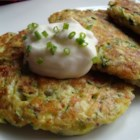 Zucchini Patties - Get out your grater or food processor, you'll need to grate up a bunch of zucchini. But this is what makes these patties fry up so wonderfully. A nice change from potato pancakes. Serve with a bit of tomato sauce or sour cream dabbed on top.
