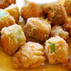 Fried Okra - A simple Southern classic! Okra is dredged in seasoned cornmeal, then fried until golden.