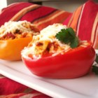 Tofu and Rice Stuffed Peppers - Italian style stuffed bell peppers for the vegetarian (can easily be prepared vegan). Even my meat-eating husband loved these.