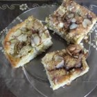 Rhubarb Cake IV - This is a delightful, lightly spiced rhubarb cake with a spicy almond topping.