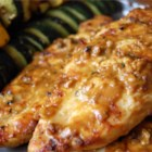 Grilled Peanut Chicken - Chicken breasts are brushed with an Asian-inspired peanut based sauce while cooking on the grill.