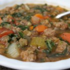 Lentil Soup - Lentils are coupled with vegetables for this family-friendly lentil soup. Topped with spinach and a splash of vinegar, this is the perfect weekday dinner.