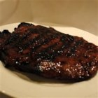 Flank Steak Barbecue - A soy sauce and honey marinade give this excellent piece of meat a great flavor.