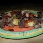 Beef Shish Kabobs - Bacon-wrapped water chestnuts, pineapple chunks and stew meat are basted with a simple marinade from Gerri Layo of Massena, New York. 'These kabobs can be assembled ahead, so they're ideal for family get-togethers,' she writes. 'They're a delicious alternative to hot dogs and hamburgers.'