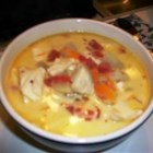 Hearty Halibut Chowder - I got this recipe when I lived in Anchorage, Alaska.  It's made from Alaskan halibut.  The shredded carrots and Cheddar cheese in this chowder make it distinctive.