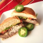 Cream Cheese Jalapeno Hamburgers - Try this quick and fun take on an all-American standard. These jalapeno and cream cheese stuffed hamburgers will add spice to your next cook out!