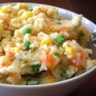 Cowboy Mashed Potatoes - Quick, easy and delicious mashed potatoes with corn and carrots.