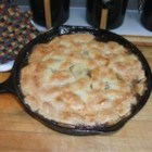 Grandma's Iron Skillet Apple Pie - A modern version of an old-time favorite uses premade pie crusts to make this three-layer apple pie, baked in a cast iron skillet.