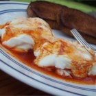 Turkish Style Eggs - This perky poached egg dish is known as Cilbir in Turkey.