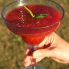 Strawberry Basil Margarita - The combination of basil and strawberries work with tequila to make a delicious and refreshing blended cocktail.