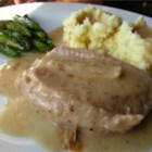 Gravy Baked Pork Chops - These pork chops will melt in your mouth. They are very good and easy to assemble. They are first sauteed in butter, then baked in a creamy mushroom sauce.