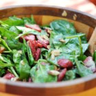Strawberry Spinach Salad I - This spinach and strawberry salad is topped with a fabulous homemade poppy seed dressing.