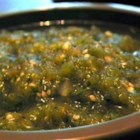 Green Hot Sauce (Salsa Verde) - Simple, fresh, and hot, what more could a green salsa want? It contains tomatillos, serrano pepper, onion, and garlic.
