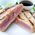 Sesame Seared Tuna - Easy, great tasting tuna coated with sesame seeds, and quickly seared. This tuna is served rare, so be sure to use a good quality fresh tuna.