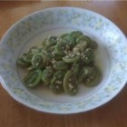 Sauteed Fiddleheads - Fiddlehead ferns have a flavor similar to asparagus and are available from April through July in many specialty markets.  Here, they are simply cooked in olive oil and garlic to make a fabulous first course or side dish.