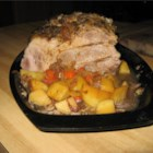 Czech Roast Pork - Roast pork (veprova pecene) is a traditional Czech meal usually served on Sundays with dumplings, sauerkraut, and a nice Czech pilsner.