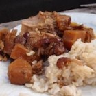 Slow Cooker Pineapple Pork Roast - This entree can be prepared in seconds. Put all the ingredients together, and in hours you will have a delicious, moist, and tasty roast! Enjoy with salad and some fresh baked rolls, and you have a dinner that everyone will love, including my husband and four teenage sons who have declared this roast their favorite meal!