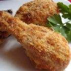 Crispy Herb Baked Chicken - Parmesan and potato flakes make a crunchy crust for this baked chicken.