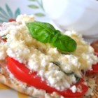 Ricotta and Tomato Sandwich - Tomatoes broiled with ricotta cheese and Italian seasoning form the center of this delicious and quick sandwich.