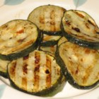Grilled Zucchini II - Too much zucchini? Soak in Italian dressing, grill, and they are gone.