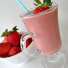 Strawberry Banana Protein Smoothie - This balanced smoothie is great for a meal replacement or after a workout.