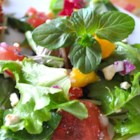Refreshing Summertime Salad - Refreshing mango and watermelon mixes with fresh mint in this tasteful summer salad.