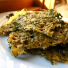 Kale Krisps - Kale is thinly shredded and baked crisp with cheese. It's a quick way to enjoy this under used vegetable.