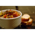 Italian Vegetable Soup - Carrots, celery, onions, cabbage, corn, and green beans -- this soup is full of vegetables!  With ground beef, beans, and macaroni, a loaf of warm, crusty bread is all you need for a well-rounded dinner.