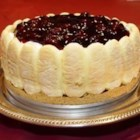 Ladyfinger Cheesecake - This cheesecake can be put together in 15 minutes. Impress your guests and place it on a pedestal cake dish! Blueberry pie filling will work well, too!