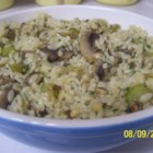 Hazelnut-Mushroom Pilaf - Long-grain rice and orzo are simmered in chicken broth with hazelnuts and mushrooms and seasoned with parsley and marjoram.