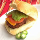 Travis's Turkey Burgers with a Bite - Smoky mesquite seasoning and a chopped jalapeno bring flavor excitement to tasty turkey burgers.