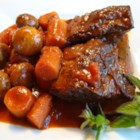 Bloody Mary Short Ribs - Beef short ribs are slowly braised with Bloody Mary mix and red wine in this savory dish.