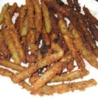 Green Bean Fries - These are tasty alternatives to both regular french fries and also a way to get in your veggies! I make them by the truckload and freeze them. My husband hates green beans but gobbles these up! Serve with Ranch dressing or another favorite dipping sauce.
