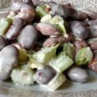 Kidney Bean Salad - A simple and delicious combination of hard-cooked eggs, beans, onion, celery, and sweet pickle relish. A little mayo holds it all together.