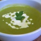 Fresh Pea Soup - This classic French soup, made with fresh peas and shallots, comes together in a snap!