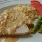 Pork Tenderloin with Dijon Marsala Sauce - This absolutely delicious pork tenderloin is prepared simply by first browning in a skillet, and then finishing in the oven. Served with a Marsala cream sauce, prepared while the pork is baking, the dish can be prepared in under an hour. The sauce is tasty over steamed vegetables as well.