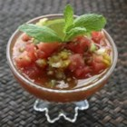 Watermelon Gazpacho - Start your hot-weather meal with this easy, intriguing variation on the classic tomato cold soup.