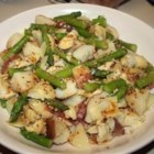 Red Potato, Asparagus, and Artichoke Salad - Asparagus, red potatoes, and canned artichokes are dressed simply with a Dijon-mustard sauce in this terrific salad recipe.
