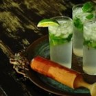 J-Lo's Asian Mojito - Pineapple juice sweetens lemon-flavored rum and sour apple schnapps in this Asian-accented version of the Cuban classic.  Serve over ice with a mint-sprig garnish for a refreshing summertime treat.