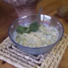 Kiwi Raita - A slightly sweet, slightly tangy, cooling condiment that goes great with spicy Indian dishes or any grilled meats or veggies.