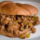 Neat Sloppy Joes - No green pepper in this recipe, so it's a hit with kids. We added this to the menu at a children's camp, and it has been a favorite for several years.  The mixture is thick, so they are 'neat' rather than sloppy. This freezes and reheats well.