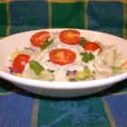 Casa Dressing - This tangy dressing is accentuated with lime and cilantro. It is a simple, refreshing topping for a green salad, and makes a great accompaniment to a spicy Mexican dinner.