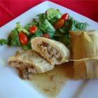 Real Homemade Tamales - I had been looking for a Tamale recipe for years. One day I went to the international market and stood in the Mexican aisle till a woman with a full cart came by. I just asked her if she knew how to make Tamales. This is her recipe with a few additions from me. This is great served with refried beans and a salad.
