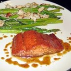 Sweet and Tangy Glazed Salmon - This is a great glaze for grilled salmon. Very easy, and everyone loves it.
