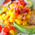 Mango-licious Tilapia - My son's girlfriend, Nicole, named this 'mango-licous' . The mango salsa is great over the tilapia, as a dip or on cottage cheese.