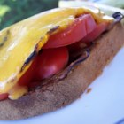 Vegetarian Open Faced Sandwich - A delicious and filling meal for the summer! Serve with a side salad or pasta.