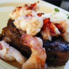 Lobster Colorado - Bacon-wrapped filet mignons are broiled and topped with lobster meat for a very special dinner. Elegant for dinner parties or a romantic dinner for two. If you desire crabmeat instead of lobster, go for it!